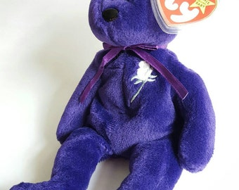 RARE 1997 TY Princess Diana Beanie Baby, Made in China, P.E Pellets, Memorial Fund Space, MINT! Collectible Bears, New Price!!!
