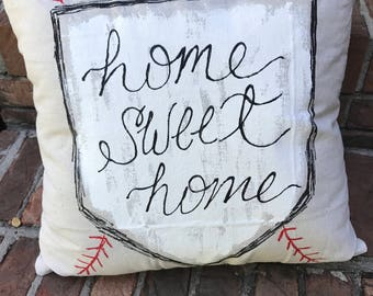Home Sweet Home Plate Pillow Cover