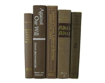 Brown  Decorative Books