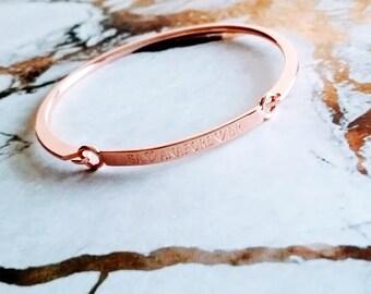 DUCHESS PHENOMENAL Custom Bar Bracelet, Name Plate, Personalized Jewelry, Coordinate Bracelet, Couples Jewelry, Wedding Gifts, Bridal,Bangle