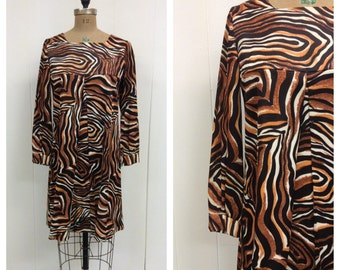1960s Mod Dress 60s Tiger