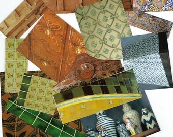 Mexican Tile Paper Clip Art, Clipart, Collage Paper, Scrap Paper Pack, Paper Ephemera for Paper Arts, Collage, Scrapbooking PSS 3629