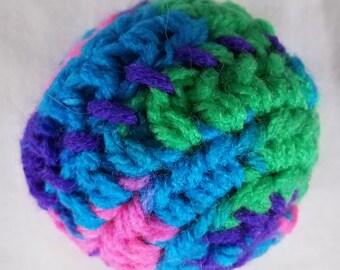 Crocheted catnip ball