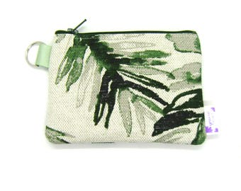 Coin Purse / Change Purse / Coin Pouch / Gadget Pouch - Green Palm
