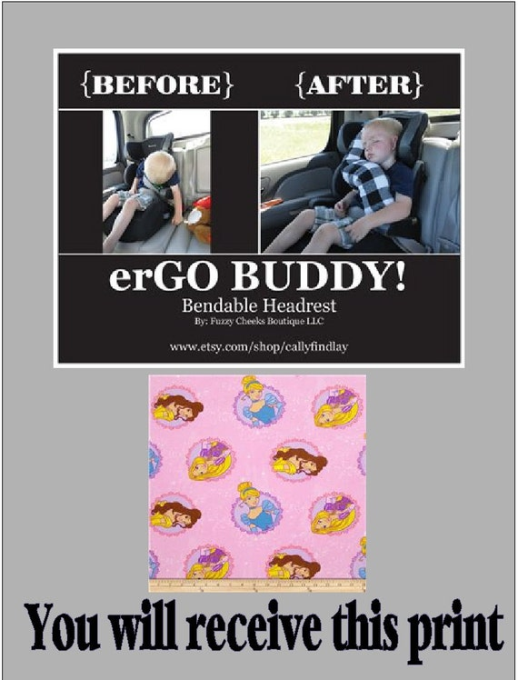 Ergo Buddy Bendable Baby Toddler Headrest Carseat Pillow And
