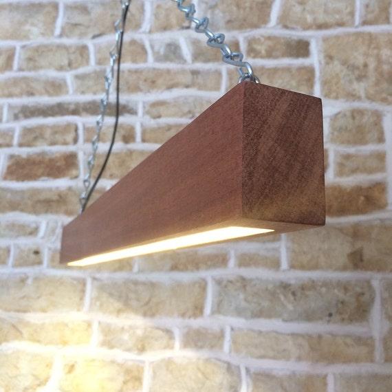 Wooden beam light wooden light fixture beam light modern for Diy wood beam light fixture