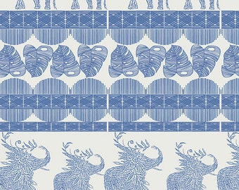 Indigo & Aster Collection's Good Fortunes Royal From Art Gallery by Bari J 100% Cotton IDA-14804