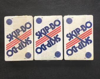SKIP-BO Card Game by International Games Inc. - Vintage 1980 - Card Decks Still Sealed