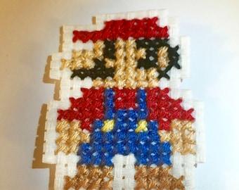 Mario Cross Stitch Iron-on Patch