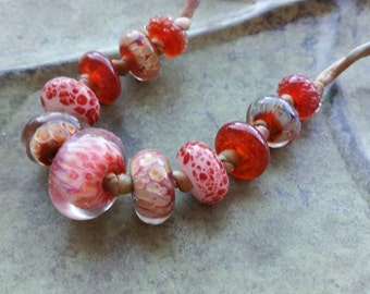 CHERRY SODA - Artisan Lampwork Glass Bead Necklace