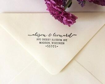 Return Address Stamp, Custom Address Stamp, Self-Inking Stamp, Wooden Stamp, Rubber Stamp, Custom Stamp for Invitations