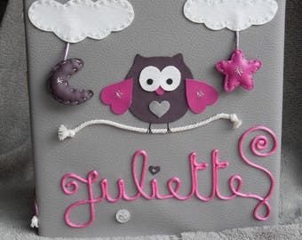 "custom order ""OWL"" photo album Juliette"