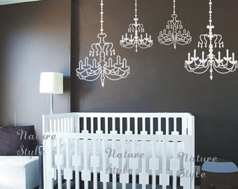 Chandelier wall decal wedding wall decal party wall decal chandelier vinyl wall decalstickernature design baby room decal wall decal nursery mozeypictures Images