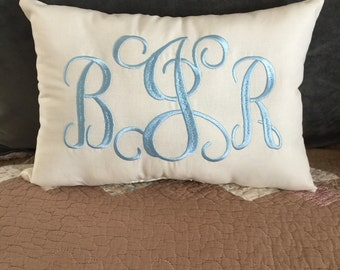 Embroidered Monogram Pillows