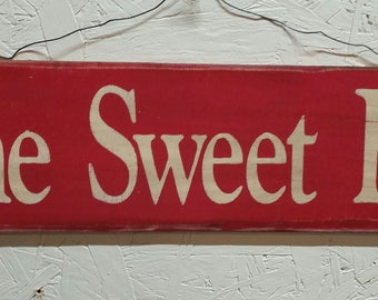 Home Sweet Home - Wood Sign, Hand Painted, Rustic, Vintage, Shabby Chic, Wood Signs
