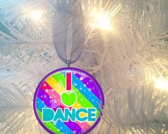 I love  Dance #3 Christmas Tree Ornament