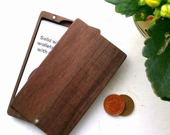 Minimalist Wallet. Card holder. Wooden Wallet. Gift for men (or women!). Slim wallet. Personalised wallet. Personalised card holder.