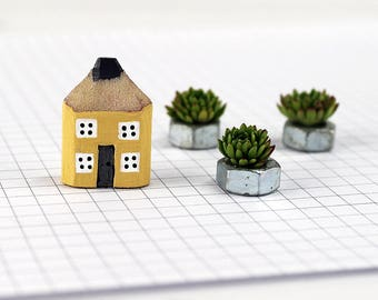Miniature House Ornament, Pencil House, Handmade Cottage, Housewarming Gift, New Home Gift, Teacher Gift, Little Wood House, Custom Colour
