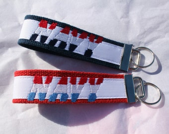 Patriotic Wristlet Key Chains