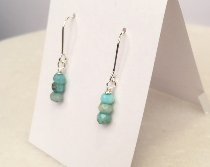 Petite Blue Opal dangle earrings