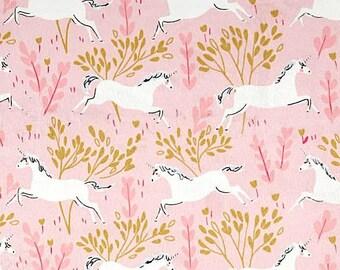 Unicorn fabric by Michael Miller