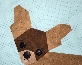 Chihuahua Paper Pieced Block Pattern in PDF
