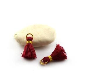 Small PomPoms 2 set of 2 cm / Bordeaux PO25 FM
