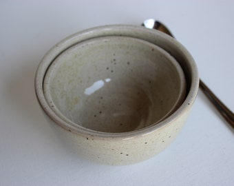 Small nesting bowls set, ceramic ramekins, wheel thrown, stoneware, ready to ship