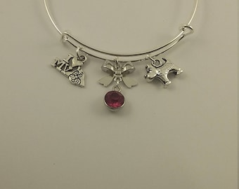 I love my dog charm bangle