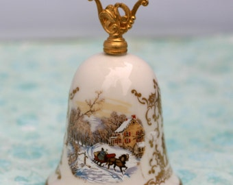 Gorham Bell Currier and Ives Holiday Decoration Fine China