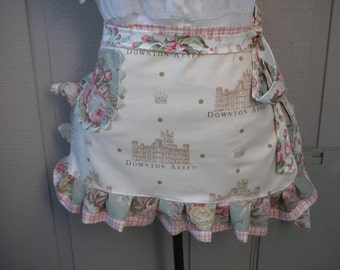 Downton Abbey Apron - Handmade Womens Aprons - Annies Attic Aprons - Downtown Abbey Aprons - Annies Attic Aprons