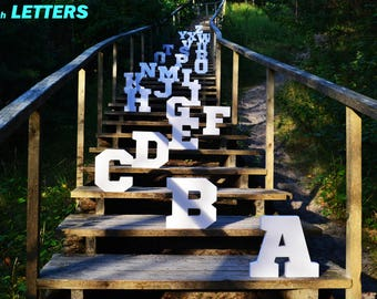 DIY Cardboard Letters, 28cm - UNASSEMBLED A-Z, 0-9 LETTERS. Marquee letters
