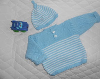 Overall sweater and Cap 12 months
