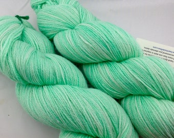 "Superwash Merino/Bamboo/Nylon Hand Dyed Sock Yarn-Hearthside Fibers BaaBoo-""Spearmint"""