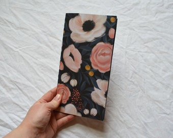 Handmade Travellers Notebook Insert: blackpages