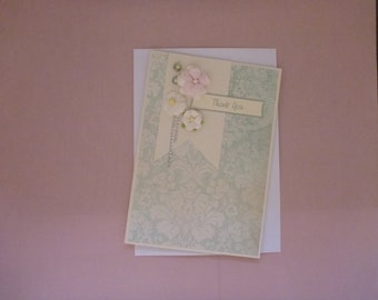 Delicate and Pretty Thankyou Card FREE SHIPPING