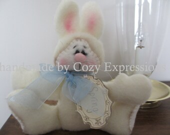Plush Easter bunny | Bunny decoration | Easter basket stuffer | Easter decoration |  Easter gift | Easter home decor | stuffed bunny rabbit