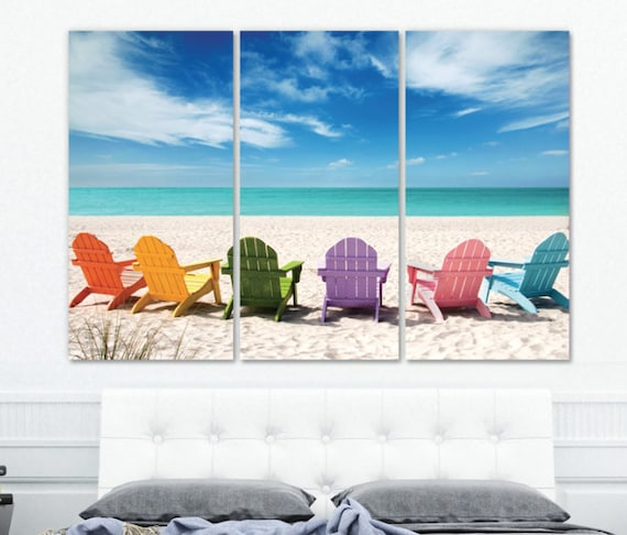 Awesome Large Beach Wall Art On Canvas Beach Mural Ocean Beach