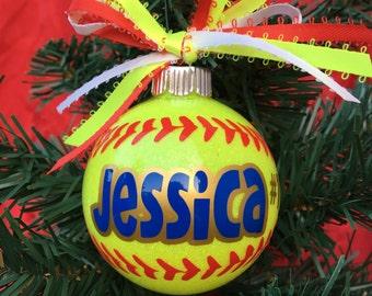 Softball Gifts, Softball Mom, Softball Player Gift, Sports Ornaments, Softball Ornament, Keepsake Ornament, Coach Gift, Softball Team