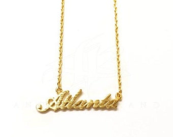 "Tiny Gold ""Atlanta"" Necklace - Dainty, Simple, Birthday Gift, Wedding Bridesmaid Gift"
