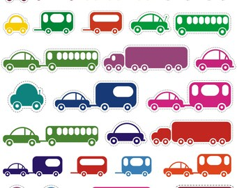 Car Clipart, Toy Car Clipart, Vehicle Clipart, Clipart Car, Transport Clipart, Printable, Commercial Use, PNG And JPG Files