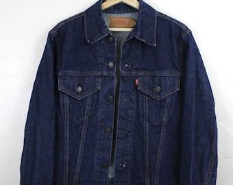 Vintage Levi's Type III Denim Jacket Trucker Jacket 70505 0217 Levi Strauss and Co Dark Denim Jacket Size 40