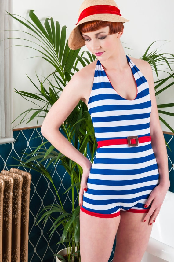 1930s Swimsuits- Pictures and History Vintage swimwear. Nautical 1920s 1930s Bathing Suit.Vintage swimwear. Nautical 1920s 1930s Bathing Suit. $125.35 AT vintagedancer.com
