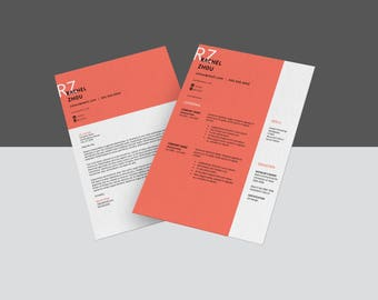 BRAZEN | Professional resume template | CV + Cover letter | 8.5x11 inches | Editable Word doc | Instant digital download | Mac or PC