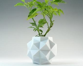 Octagon Planter Small Geometric Planter White Pot Mini Desk Planter Pot Hexagon Pot Small Modern White Planter Mini Geometric Pot