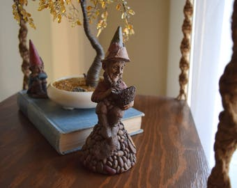 Vintage Tom Clark Gnome Figurine CPA / 'The Bean Counter' - Woodland, Gnomes, Forest Dwellers
