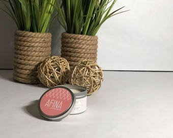 Natural Soy Candles - Hand Poured Soy Candles, Soy Candle Tin, Scented Soy Candles, Handmade Candles, Candles, Container Candles, Grapefruit