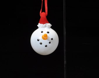 Snowman Ornaments! Handmade in Corning, NY. Steuben County