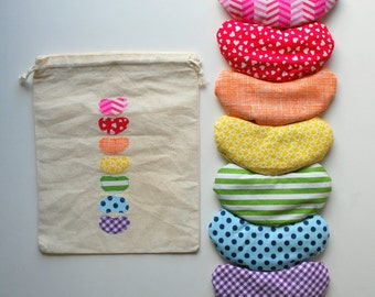 7 Scented Jelly Bean Bags in a Rainbow of Colors - Set of Bean Bags - Candy - Play Food - Pretend Play - Easter - Sensory Toy