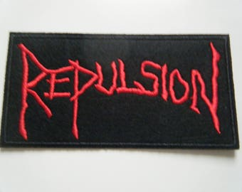 Repulsion Patch embroidered iron on sew on badge napalm death metal terrorizer horrified new